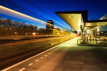 Train Leaving A Train Station ...
