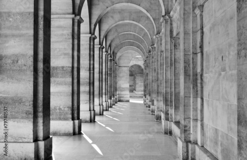 Fotografia View of colonnade