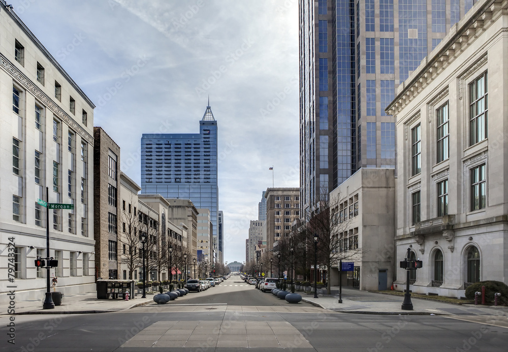 Fototapety, obrazy: view of downtown raleigh, north carolina