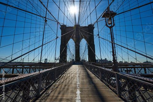 Filar mostu brooklyńskiego, Miasto Nowy Jork, USA