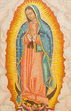 Jerusalem - Mosaic Of Our Lady Of Guadalupe In Dormition Abbey