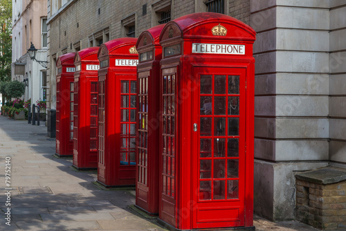London - Red Telephone Boxes Poster