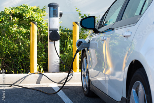 Photo  Electric car charging