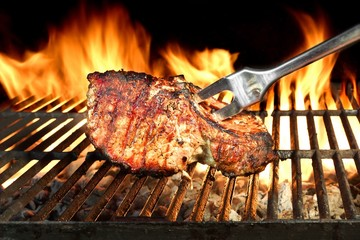 FototapetaMeat Chop Cooked On The Barbecue Grill