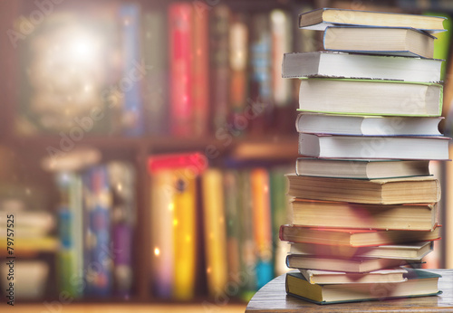 Photographie  Bookshelf -background