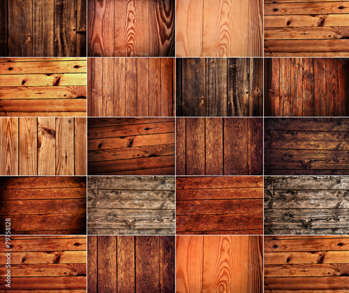 collection of wood background Wall mural