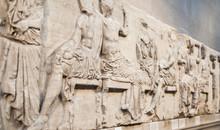 LONDON, UK - NOVEMBER 30, 2014: British Museum, Ancient Greek
