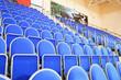Blue stadium seats hall handball