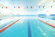 Empty Indoors Public Swimming Pool