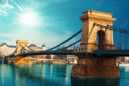 plakat Most Łańcuchowy Budapeszt Węgry
