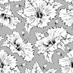 Fototapeta Hibiscus seamless pattern