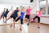 Aerobics on fitness classes