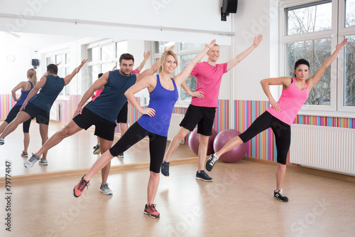 Fotografie, Obraz  Aerobics on fitness classes