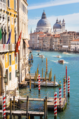 Poster Venise Grand Canal in Venice, Italy.