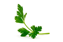 Green Leaves Of Parsley Isolat...