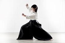 Beautiful Woman Practicing Aikido  5