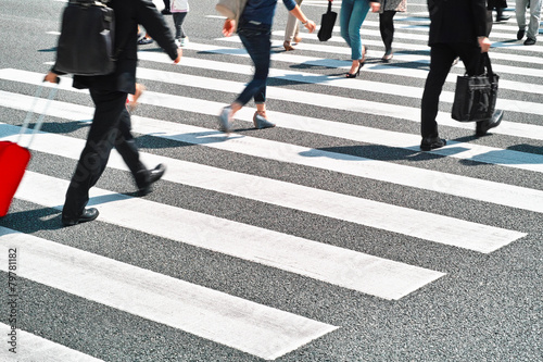 Canvas zebra crossing