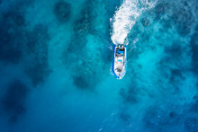 Speed Boat On The Azure Sea