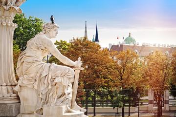 Gradska krajobraz Beča iz Pallas Athene blizu parlamenta, Austrija