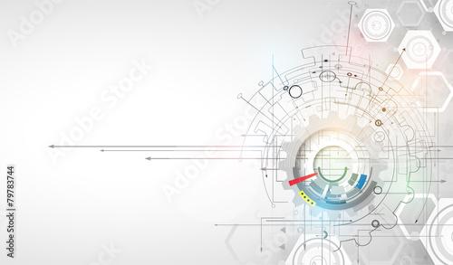 New Technology business background Wallpaper Mural