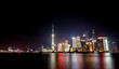 Shanghai city with bright lights