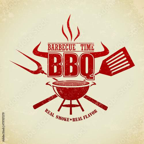 Vintage BBQ Grill Party - 79787379