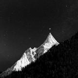 Gwiaździste niebo nad górami Kaukazu, Dombay - 79792785