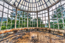 Broken Conservatory In An Abandoned Manor