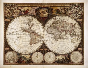 Fototapeta Mapy Vintage World map