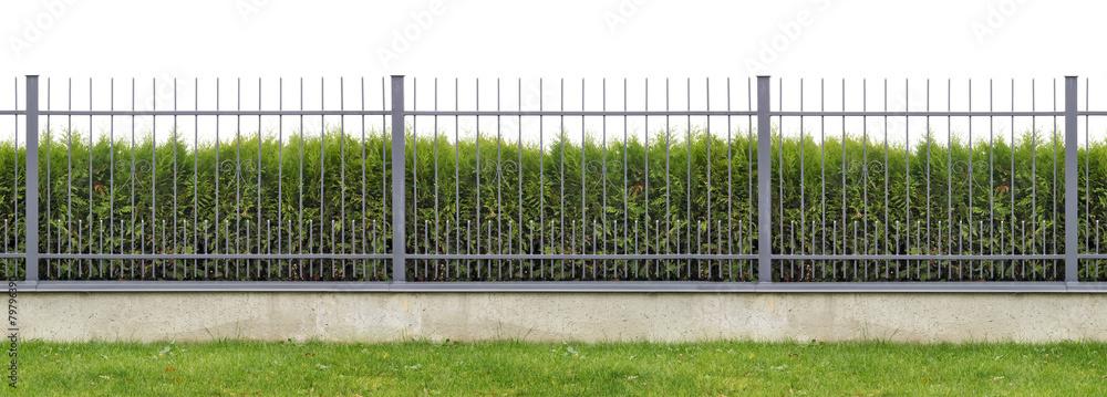 Fototapeta Ideal village fence panorama
