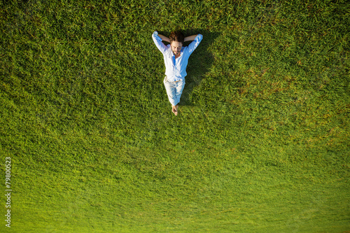Tuinposter Ontspanning enjoying life, success concept
