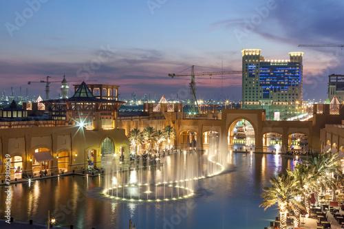 Staande foto Midden Oosten Al Kout Mall at dusk. Fahaheel, Kuwait, Middle East