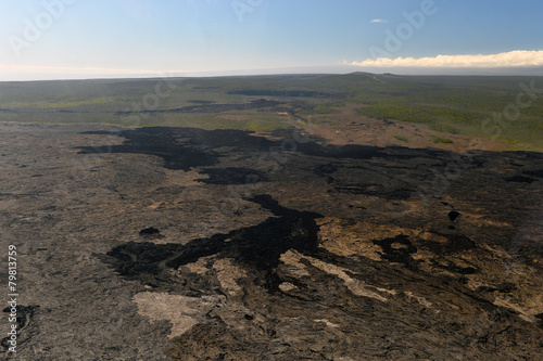 Fotobehang Vulkaan Aerial view of Kilauea volcano in Big island, Hawaii-7