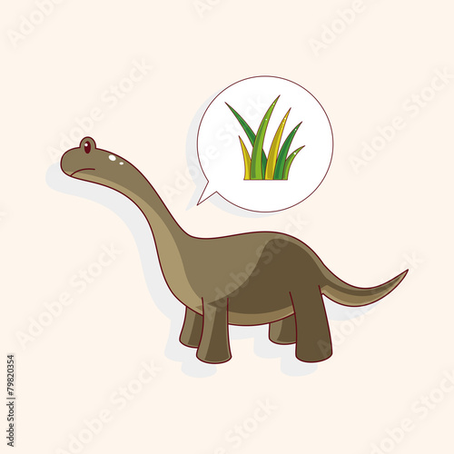 Photo  dinosaur theme elements