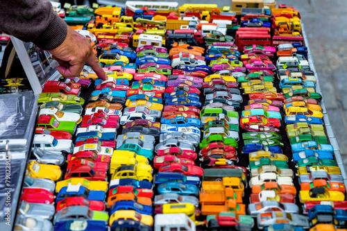 Fotografie, Obraz  Viele bunte Spielzeugautos