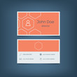Modern flat design business card template. Graphic user