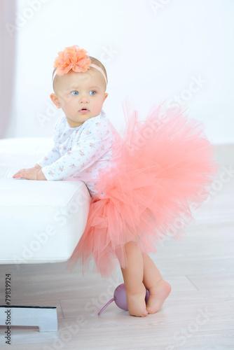 Fotografie, Obraz  Little girl dressed in a tutu
