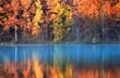canvas print picture - autumn reflections