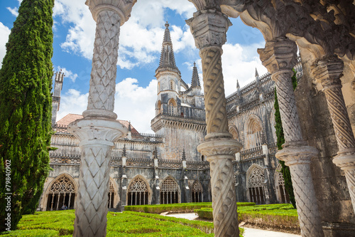 Royal cloister of Batalha monastery, Portugal Wallpaper Mural