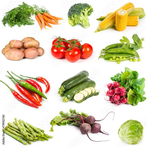 Staande foto Groenten Set of fresh vegetables