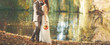 canvas print picture Wedding couple embracing.
