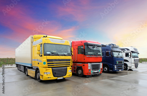 Fototapeta Ciężarówka, transport