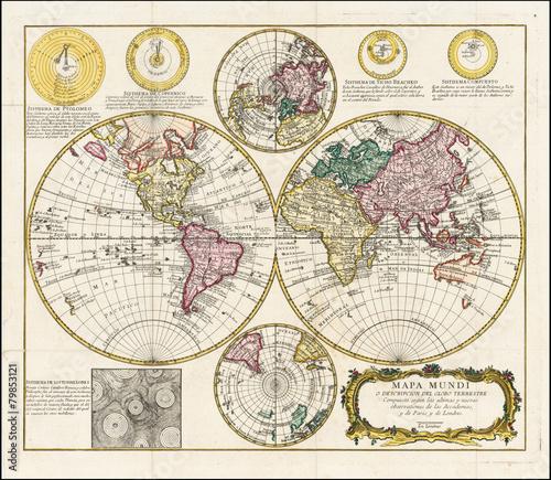 In de dag Wereldkaart World vintage