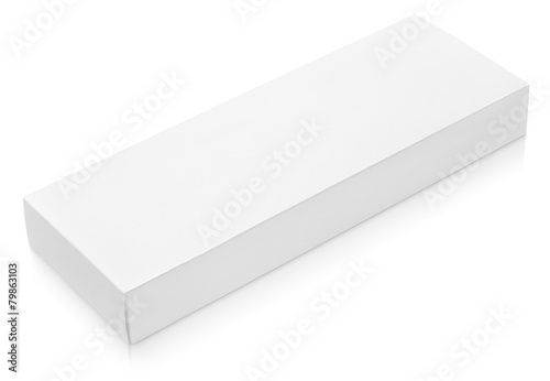 flat long cardboard box template for chocolate on white buy this