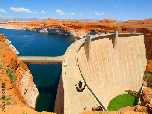 In de dag Dam Glen Canyon Dam