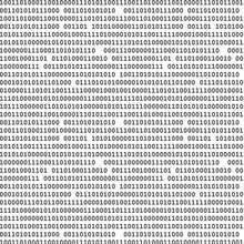 Binary Computer Code Seamless Pattern Vector Background