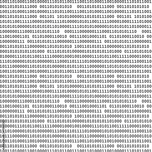Fotografía  Binary computer code seamless pattern vector background