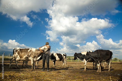 Fotografie, Tablou Happy Farmer
