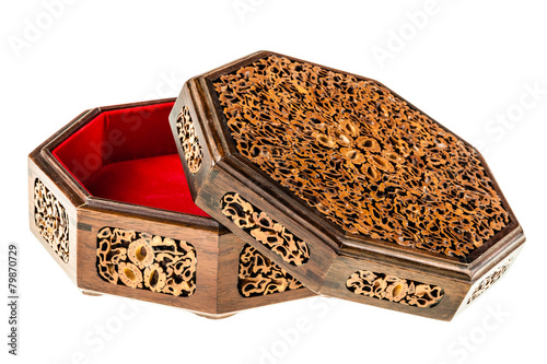 Fotografering  Inlaid wooden box