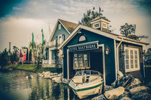 Boat House In Vintage Architecture And Color Style